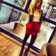 #peplum skirt #peplumskirt #fashion #fashionozge