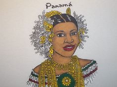 Panama Pollera Tee Shirt - New Products | Born in Panama | For all ...