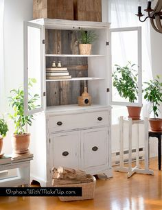 China Cabinet Makeover (from Traditional to Farmhouse)