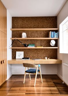 Image 2 of 9 from gallery of Maitland House / Kennedy Nolan. Photograph by Derek Swalwell Home Design Diy, Home Design Plans, Plan Design, Interior Design, House Design, Kennedy Nolan, Study Nook, Floor Layout, Wall Storage