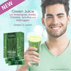 Nbody Green Juice with Wheatgrass, Barley, Chlorella, Spirulina, Malunggay - Nworld International Direct Selling, Wheat Grass, New Green, Spirulina, Weight Management, Healthy Weight, Home Remedies, Juice, Nutrition