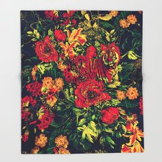 Vivid Jungle Throw Blanket