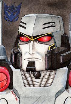 My version of decepticon commander, Megatron. Transformers © Hasbro