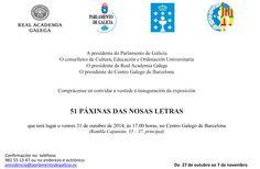 51 paxinas das nosas  letras el 31 de octubre en Centro gallego de #barcelona via @galiciaaberta