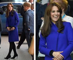 Wills, Kate and Harry kick off the Rugby World Cup!:Duchess Catherine, who earlier in the day [had officially returned to royal duties](http://www.womansday.com.au/royals/british-royal-family/duchess-catherine-goes-back-to-work-1-13684) [following the birth of her second child,](http://www.womansday.com.au/royals/british-royal-family/princess-charlottes-official-christening-portraits-13052) looked elegant in a cobalt blue trenchcoat.