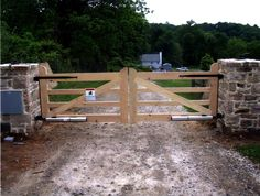 wood driveway estate gates - Google Search