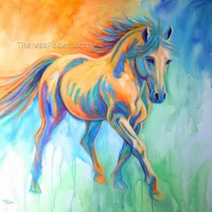 Daily Painters of California: Colorful California Horse Painting by Theresa Paden