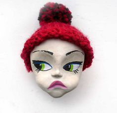 New Face (mohawk) Tags: pink blue red sculpture copyright baby colour detail macro green eye home wool water girl face hat illustration liverpool painting poster toy paul book big crazy model eyes paint pretty comic dolls mood moody play eyelashes mask bright head d finger small cartoon like s burroughs lips sean retro made clay ugly beat mohawk lovely mad dolly eyeshadow kerouac making beatnik eyebrows 08 apparently temper sculpt formed woolen limbert magisch dinni tempremental