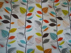 Napkins 4 Orange Red Blue Green Brown Funky Floral Retro Fabric washable ANY of MY DESIGNS