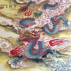 Chinese Dragon Painting,62cm x 62cm,4739005-x