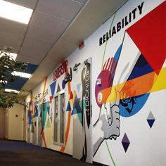 office graffiti wall. Wall Paintings On Behance Office Graffiti