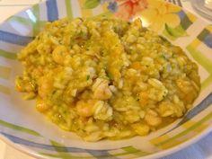 Risotto con gamberetti e verdurine (ricetta primo piatto)