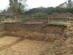 Fondation sous sol avec les fouilles des fondations