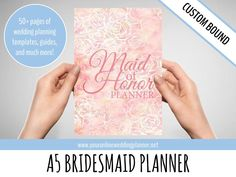 http://tidd.ly/7bef593b  ULTIMATE Maid of Honor Planner A5, Wedding Organizer, bridesmaid planner book, bridesmaid gift, maid of honor gift, wedding printables, wedding planner templates