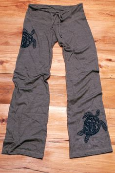 be still my Sea Turtle Yoga Pants Wideleg Pants by nicandthenewfie, $30.00