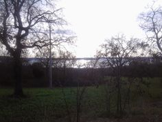 La vista del Lago di Bolsena dal cimitero di guerra.