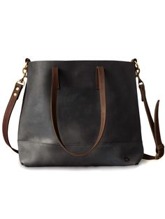 Abera Crossbody Tote -- new colorway: black + chocolate!
