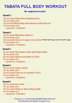 Tabata Full Body Workout