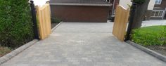 Tegula driveway by Charles William Paving & Landscapes - Alles über den Garden Ideas Driveway, Driveway Design, Driveway Landscaping, Paving Ideas, Block Paving Driveway, Driveway Gate, Grey Block Paving, Paving Contractors, Entryway