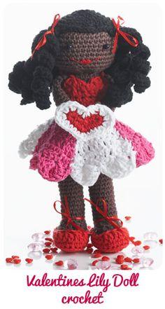 1500 Free Amigurumi Patterns: Valentines Lily Doll