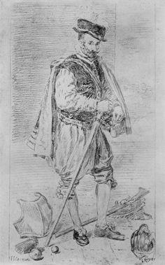Goya y Lucientes, Francisco de: dibujos de Velázquez: Retrato de bufones Don Juan de Austria