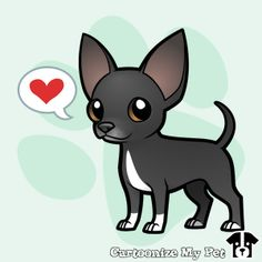 Chihuahua Tattoo, Chihuahua Drawing, Chihuahua Art, Cute Drawings, Animal Drawings, Animals And Pets, Cute Animals, Art Template, Animal Cards