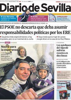 Los Titulares y Portadas de Noticias Destacadas Españolas del 29 de Marzo de 2013 del Diario de Sevilla ¿Que le parecio esta Portada de este Diario Español?