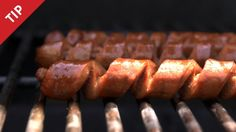 Spiral-Cut Your Wiener for more crispy surface area on the grill & crevices for the condiments - CHOW Tip