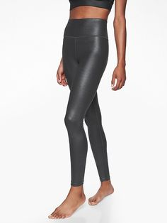 Women's Clothing Black Faux Leather Pants 2019 Latest Style Online Sale 50% Athleta All Over Gleam Tight Leggings Sp S Petite Activewear