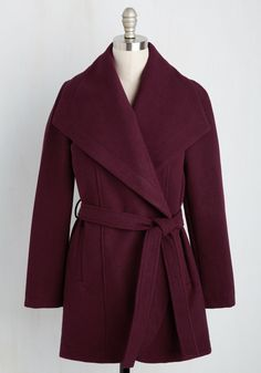 Boston Bake-Off Coat in Cranberry, #ModCloth