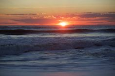 Sun rising on the beaches of St. Augustine