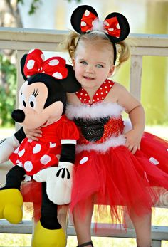 1st, 2nd,3rd Birthday Tutu Dress Mickey/ Minnie Mouse- applique- Corset Top -red/white polka dot tutu w/marabou / headband-Minnie Costume