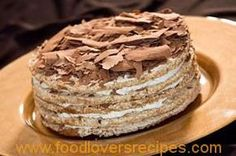 [This cake is made with discs of meringue & sandwiched together with two types of chocolate creams & covered with a ganache, very good recipe & also on my chocolate desserts board, Keva xo] Just Desserts, Delicious Desserts, Yummy Food, Baking Recipes, Cake Recipes, Dessert Recipes, Cupcakes, Cupcake Cakes, Gateaux Cake