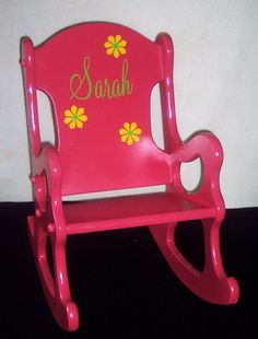 Children's Rocking Chair - Pink. $69.95, via Etsy.