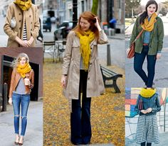 Ways to Wear A Yellow Scarf