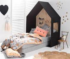 Image result for wooden house toddler bed frame