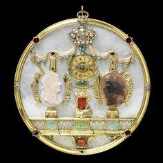 "lookingbackatfashionhistory: ""• Clock-watch. Place of origin: Germany Date: dated 1738 Artist/Maker: Mayer, Johann Salomon """