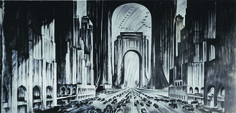The view of Raymond Hood's proposed skyscraper bridge, from 1925. the-dazzling-designs-for-a-new-york-that-never-existed