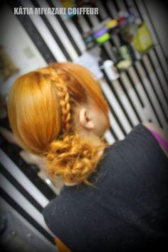 Katia Miyazaki Coiffeur - Salão de Beleza em Floripa: penteado -  cabelo ruivo - trança - coque - cabelo...