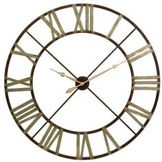 48 in. Edward Round Shaped Roman Numeral Analog Indoor Wall Clock Home Decor New in Home & Garden, Home Décor, Wall Shelves | eBay!