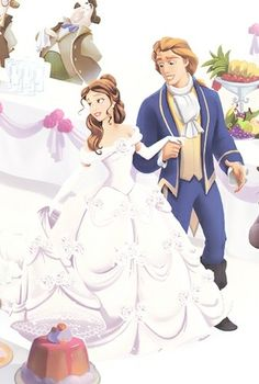 Photo of Belle and Adam& Wedding for fans of Belle. Beauty and the Beast Disney Belle, Cute Disney, Disney Girls, Disney Art, Disney Magic, Disney Names, Princess Belle, Princess Photo, Princess Wedding