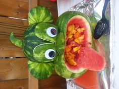 Monkey Watermelon Art, Watermelon Carving. What-A-Melon Creations