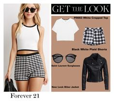 """""""Get The Look: Forever 21"""" by lovefashionxxxxxx ❤ liked on Polyvore featuring Forever 21, Pinko, Yves Saint Laurent and New Look"""