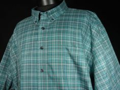 Mint Cabela's Outfitter Series Mens Size 3XLT Tall Button Front Shirt Plaid BIG #Mensfashion #Style #Blackfriday http://r.ebay.com/Cu7oBn