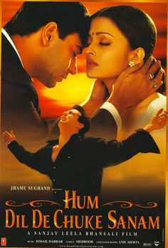 Salman Khan, Ajay Devgn, and Aishwarya Rai Bachchan in Hum Dil De Chuke Sanam Hindi Bollywood Movies, Bollywood Posters, Free Movie Downloads, Hd Movies Download, Krrish Movie, Indiana, Hindi Movies Online, Movies Now Playing, Indian Movies