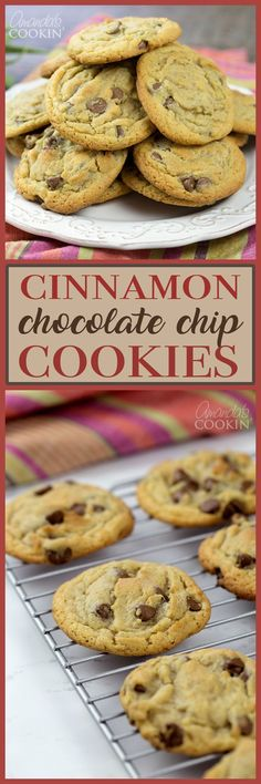 This cinnamon chocolate chip cookies recipe promotes the perfect balance between cinnamon and chocolate chips without being too overpowering on either side.