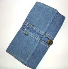 Denim clutch purse Reserved for Milly K. di NancyEllenStudios