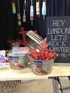 """London LifeSyle Home Show - Jan 2015 Display for """"An East Coast Lobster Party"""" - Bethanys Hope Foundation."""