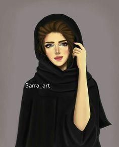 Arabic pics❤ Girly M, Sarra Art, Hijab Drawing, Hijab Cartoon, Girly Drawings, Art Drawings, Beautiful Muslim Women, Cute Girl Wallpaper, Summer Wallpaper