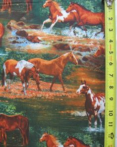 Rivers Bend Scenic Horse Wild Wings 100% Cotton Quilt Fabric BTY Yards Equine #WildWings